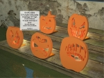 05-WC-0695 - Pumpkin Silhouette Woodworking Set of 5 Patterns PLUS 5 Bonus Drawings
