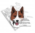 Norrbottenspets Dog Intarsia or Yard Art Woodworking Pattern woodworking plan