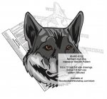 Northern Inuit Dog Intarsia or Yard Art Woodworking Pattern woodworking plan