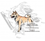 Norwegian Buhund Dog Intarsia or Yard Art Woodworking Pattern
