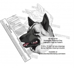 Norwegian Elkhound Dog Intarsia or Yard Art Woodworking Pattern