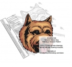 Norwich Terrier Dog Intarsia or Yard Art Woodworking Pattern