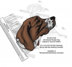 Old Danish Pointer Dog Intarsia or Yard Art Woodworking Pattern