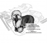 Old English Sheepdog Yard Art Woodworking Pattern woodworking plan