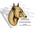 Old English Terrier Dog Intarsia or Yard Art Woodworking Pattern, Old English Terriers,dogs,pets,animals,yard art,painting wood crafts,scrollsawing patterns,drawings,plywood,plywoodworking plans,woodworkers projects,workshop blueprints