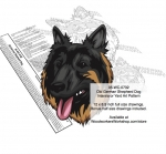 Old German Shepherd Dog Intarsia or Yard Art Woodworking Pattern woodworking plan
