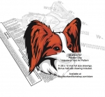 Papillon Dog Intarsia or Yard Art Woodworking Pattern