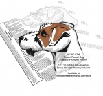 Parson Russell Terrier Dog Intarsia or Yard Art Woodworking Pattern