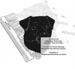 Patterdale Terrier Dog Intarsia or Yard Art Woodworking Pattern woodworking plan