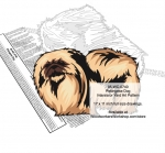 Pekingese Dog Scrollsaw Intarsia or Yard Art Woodworking Pattern woodworking plan