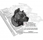 Perro de Presa Canario (Canary Mastiff) Dog Woodworking Pattern