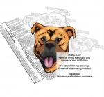 Perro de Presa Mallorquin Dog Scrollsaw Intarsia Woodworking Pattern