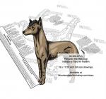 Peruvian Hairless Dog Scrollsaw Intarsia Woodworking Pattern