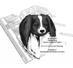 Phalène Dog Scrollsaw Intarsia Woodworking Pattern woodworking plan