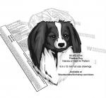 Phalene Dog Scrollsaw Intarsia Woodworking Pattern