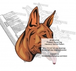 Pharaoh Dog Scrollsaw Intarsia Woodworking Pattern