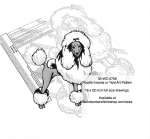 05-WC-0758 - Poodle Dog Scrollsaw Intarsia or Yard Art Woodworking Pattern