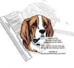 Pyrenean Mastiff Dog Intarsia or Yard Art Woodworking Pattern