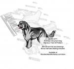 Pyrenean Shepherd Dog Intarsia or Yard Art Woodworking Pattern