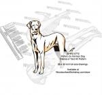 Rajapalayam Dog Intarsia or Yard Art Woodworking Pattern