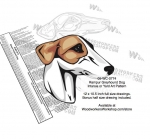 Rampur Greyhound Dog Intarsia or Yard Art Woodworking Pattern