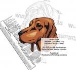 Redbone Coonhound Dog Intarsia - Yard Art Woodworking Pattern