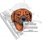 Rhodesian Ridgeback Dog Intarsia - Yard Art Woodworking Pattern