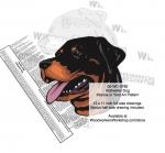 Rottweiler Dog Intarsia - Yard Art Woodworking Pattern