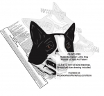 Russo European Laika Dog Intarsia - Yard Art Woodworking Pattern