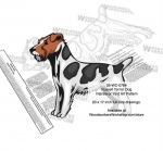 Russell Terrier Dog Intarsia - Yard Art Woodworking Pattern