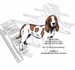Sabueso Espanol Dog Intarsia - Yard Art Woodworking Pattern