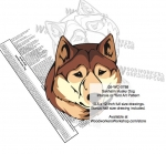 Sakhalin Husky Dog Intarsia - Yard Art Woodworking Pattern