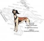 Saluki Dog Intarsia - Yard Art Woodworking Pattern