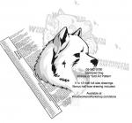 Samoyed Dog Intarsia - Yard Art Woodworking Pattern