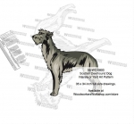 Scottish Deerhound Dog Intarsia Yard Art Woodworking Plan