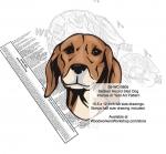 Serbian Hound Dog Intarsia Yard Art Woodworking Plan