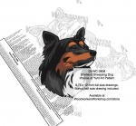 Shetland Sheepdog Intarsia Yard Art Woodworking Plan
