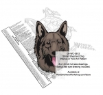Shiloh Shepherd Dog Intarsia Yard Art Woodworking Plan, Shiloh Shepherd Dogs,pets,animals,dogs,breeds,instarsia,yard art,painting wood crafts,scrollsawing patterns,drawings,plywood,plywoodworking plans,woodworkers projects,workshop blueprints