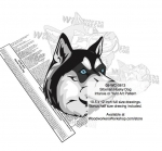 Siberian Husky Dog Intarsia Yard Art Woodworking Plan
