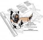 Skye Terrier Dog Intarsia Yard Art Woodworking Plan