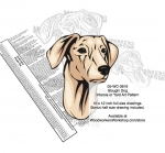 Sloughi Dog Intarsia Yard Art Woodworking Plan