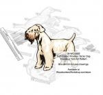 Smooth Coated Wheaten Terrier Dog Intarsia Yard Art Woodworking Plan