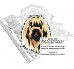 South Russian Ovcharka Dog Intarsia Yard Art Woodworking Plan
