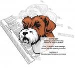 Sporting Lucas Terrier Dog Intarsia Yard Art Woodworking Plan