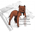 05-WC-0830 - Staffordshire Bull Terrier Dog Intarsia Yard Art Woodworking Plan
