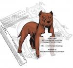 Staffordshire Bull Terrier Dog Intarsia Yard Art Woodworking Plan