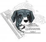05-WC-0831 - Stephens Cur Dog Intarsia Yard Art Woodworking Plan
