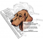 05-WC-0832 - Styrian Coarse Haired Hound Dog Intarsia Yard Art Woodworking Plan