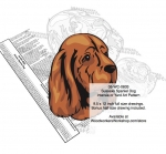 05-WC-0833 - Sussex Spaniel Dog Intarsia Yard Art Woodworking Plan
