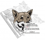 05-WC-0835 - Swedish Vallhund Dog Intarsia Yard Art Woodworking Plan
